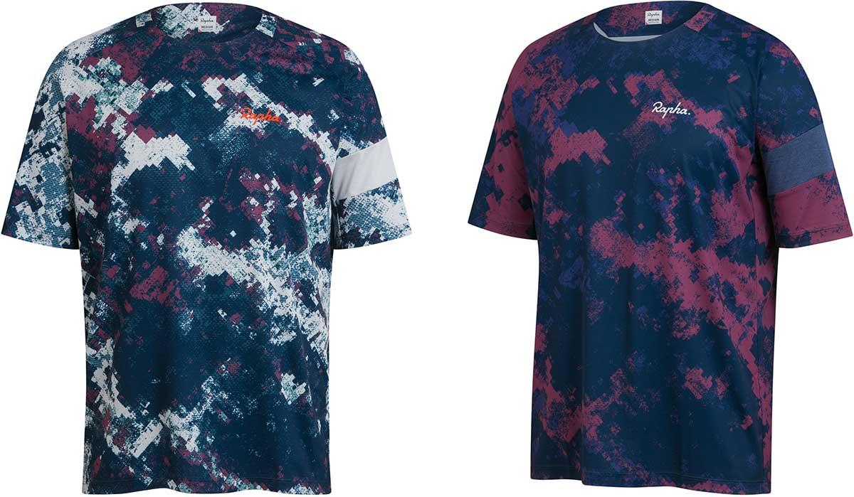 rapha limited edition mtb kit digital woodland mens technical t-shirts