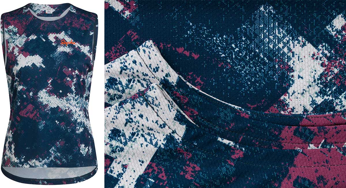 rapha mtb womens tank digital woodland performance trailwear limited edition print