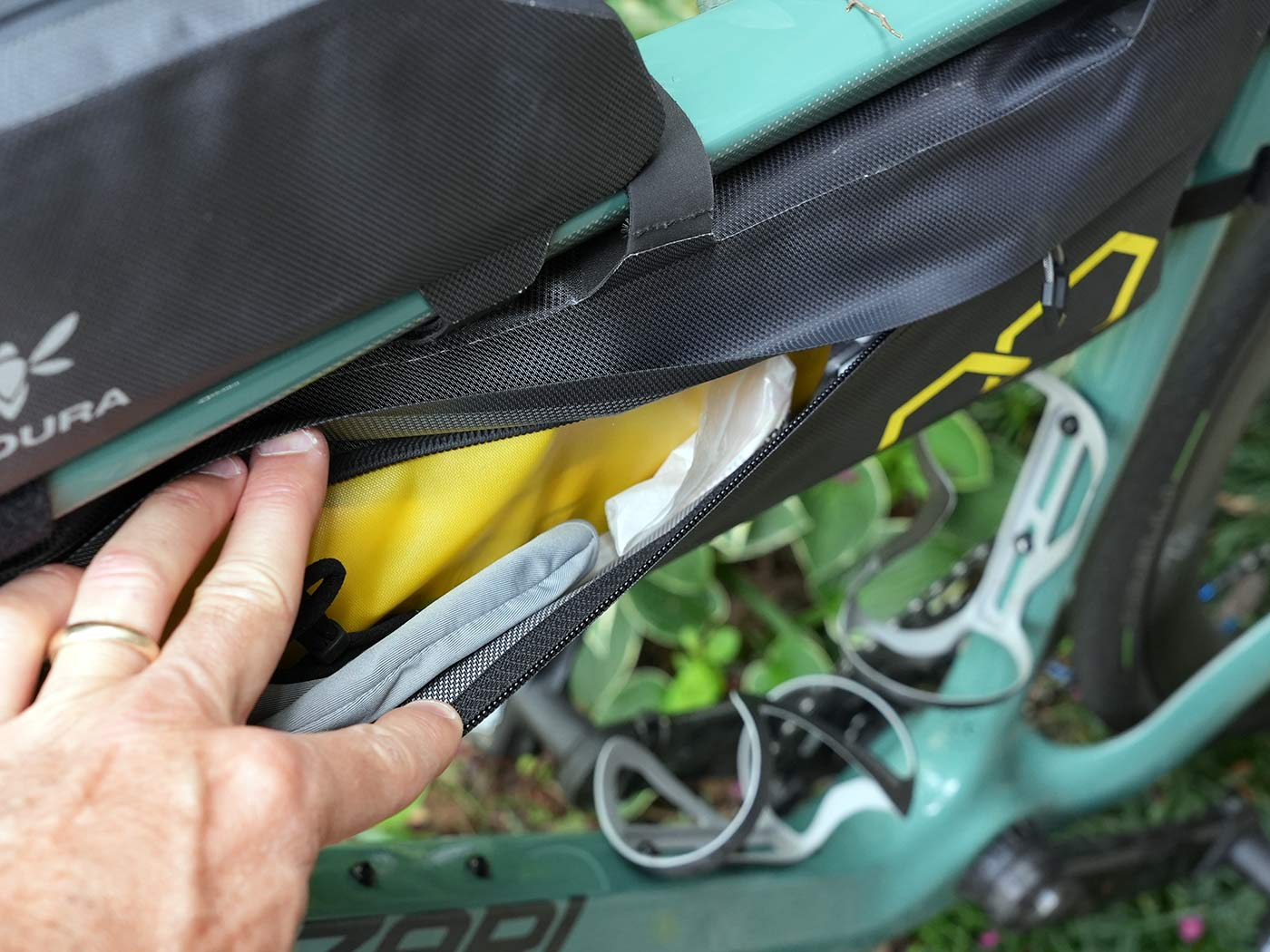 apidura expedition frame pack shown open on left side