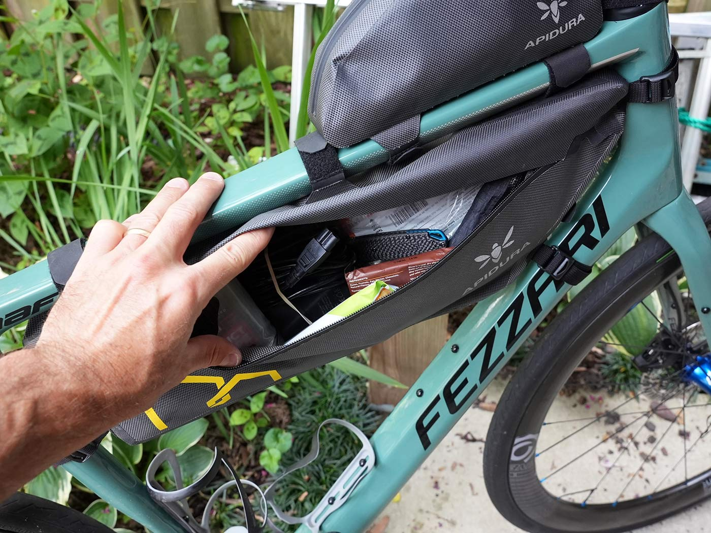 apidura expedition frame pack shown open on right side