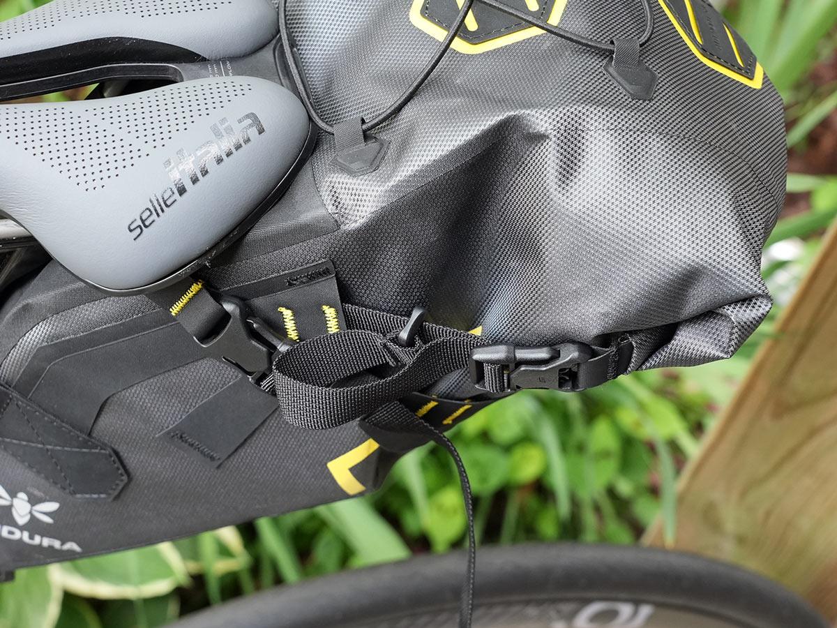 apidura expedition saddle pack on a bike