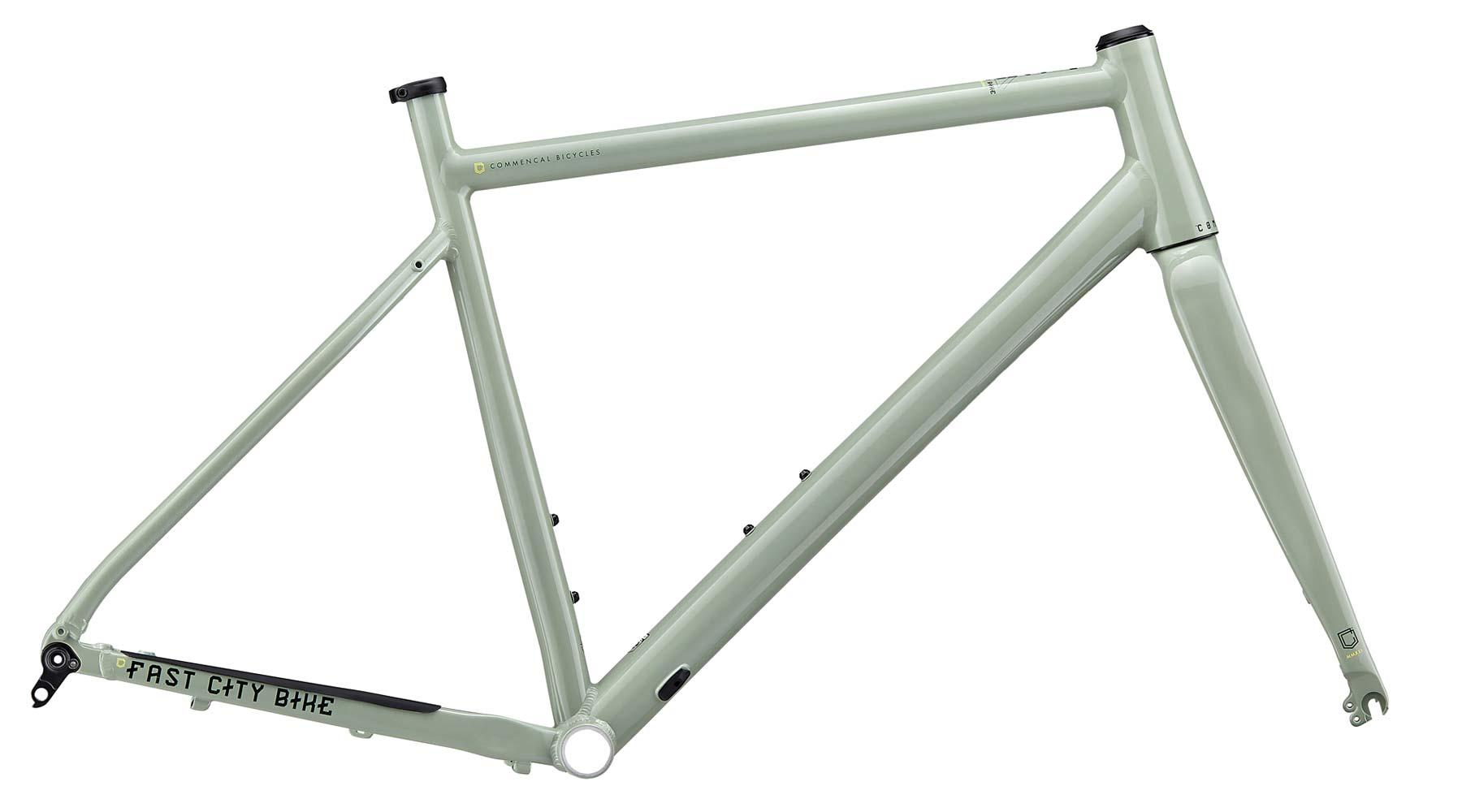 Commencal FCB Gravel project frameset, frame kit option, custom gravel bike build,Heritage green frame