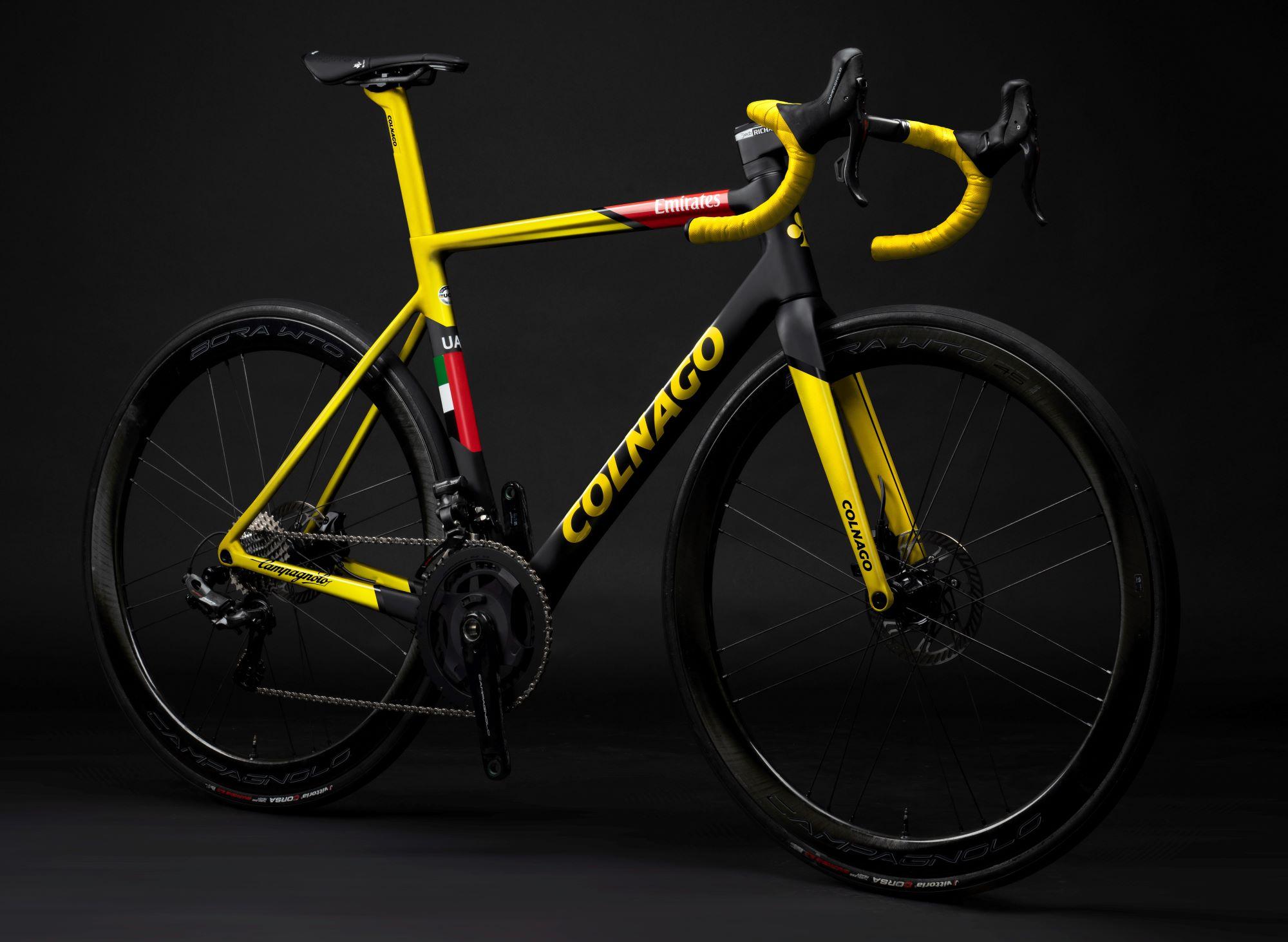 special edition colnago v3rs pogacar yellow bike