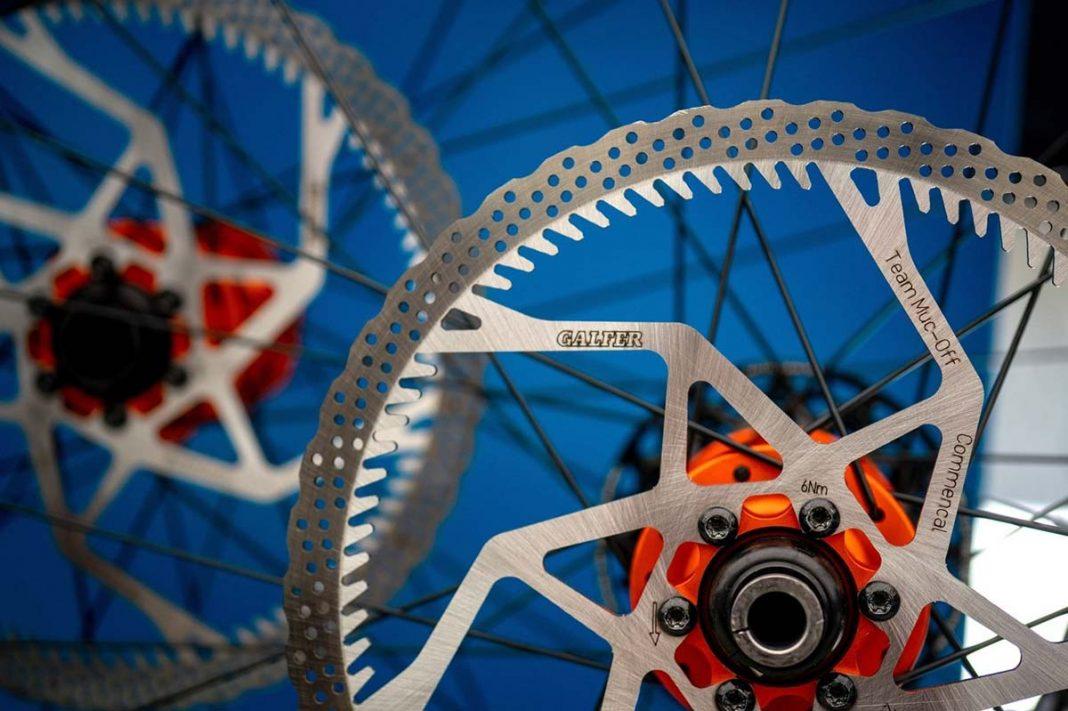galfer finned brake rotors commencal muc-off team