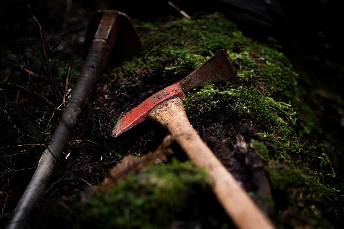 mattock hoe trail building tools blueprint flow trail bc
