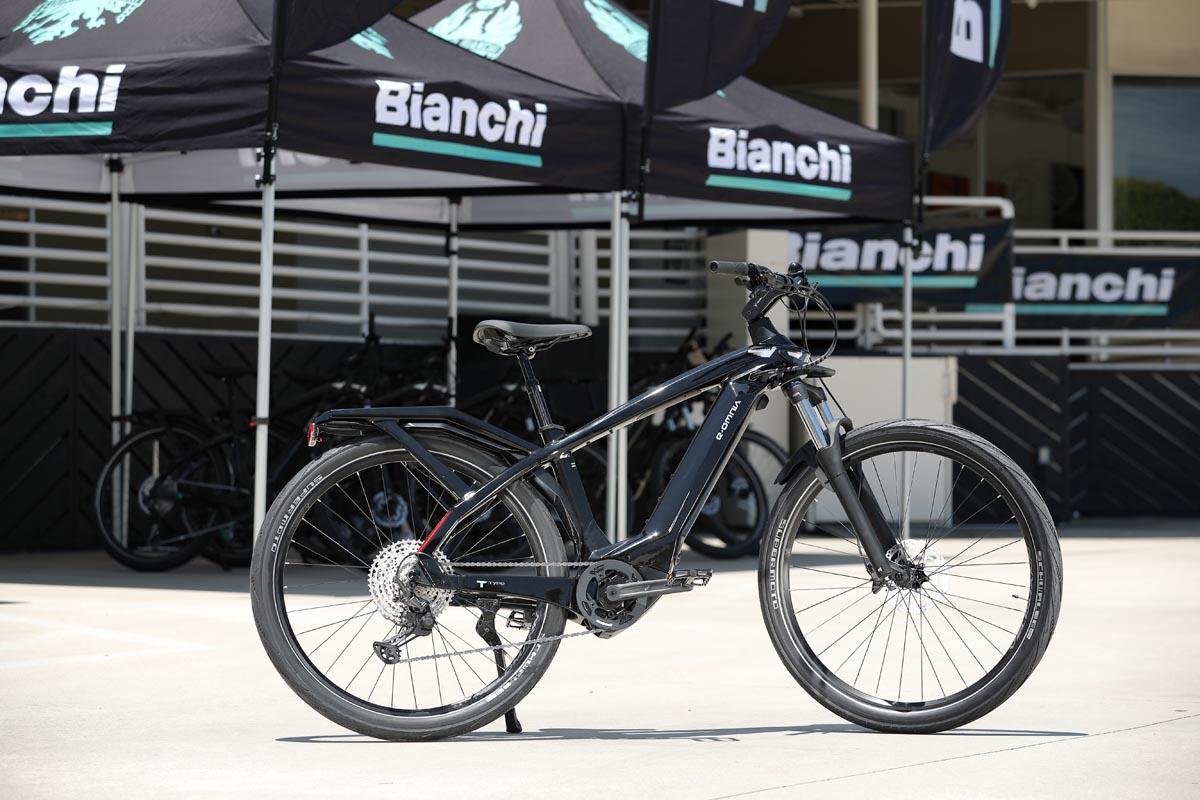 Bianchi e-bike outside