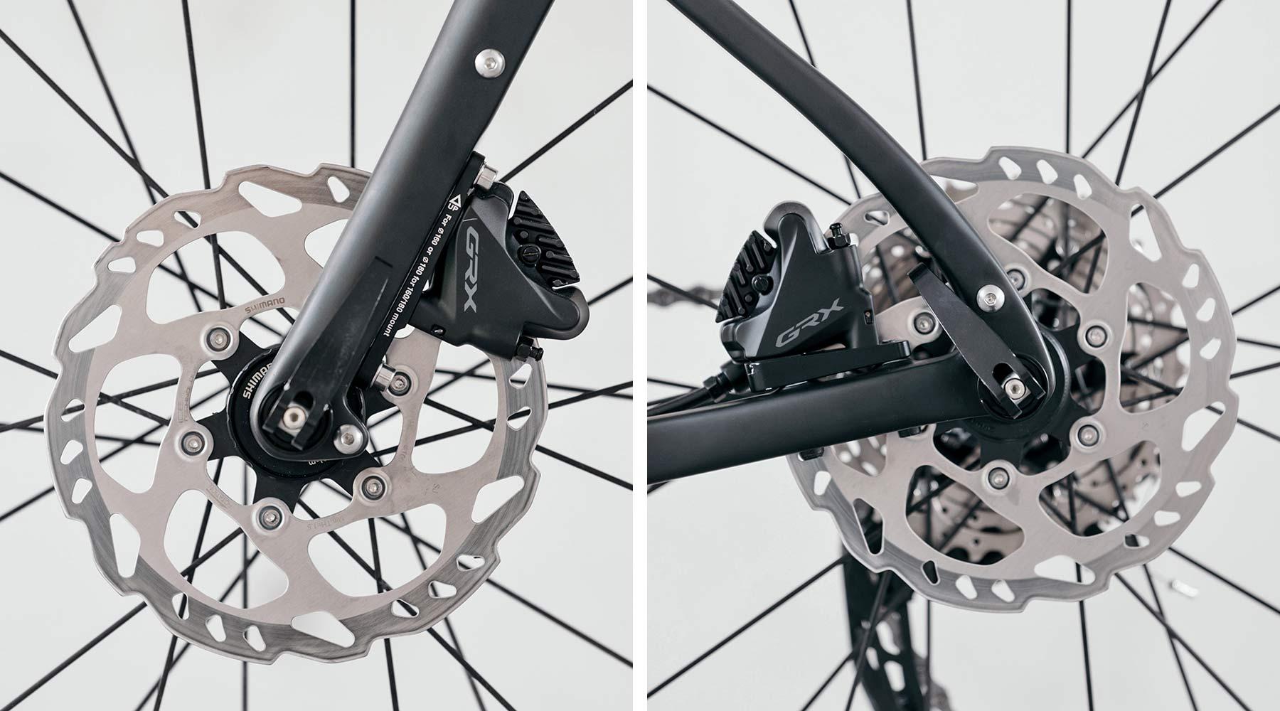 8bar Grunewald Carbon v2 affordable bikepacking adventure gravel bike, photo by Stefan Haehnel,disc brake detail