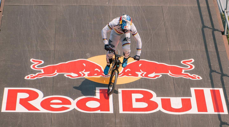 Olympic BMX prototype 2-speed derailleur gears Meybo bike, BMX World Champion Twan van Gendt, Red Bull ramp