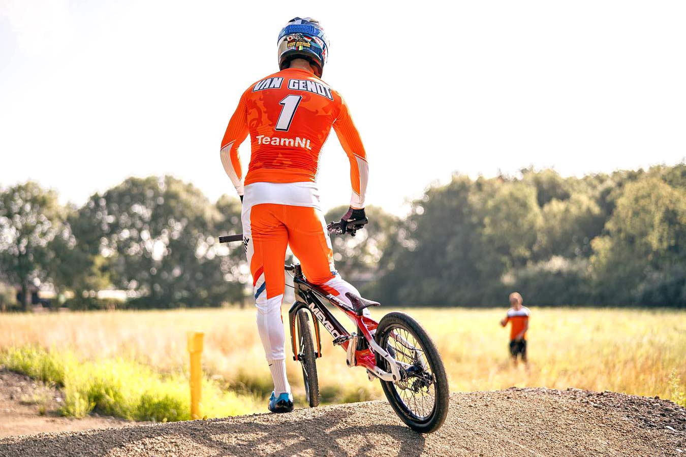 Olympic BMX prototype 2-speed derailleur gears Meybo bike, BMX World Champion Twan van Gendt