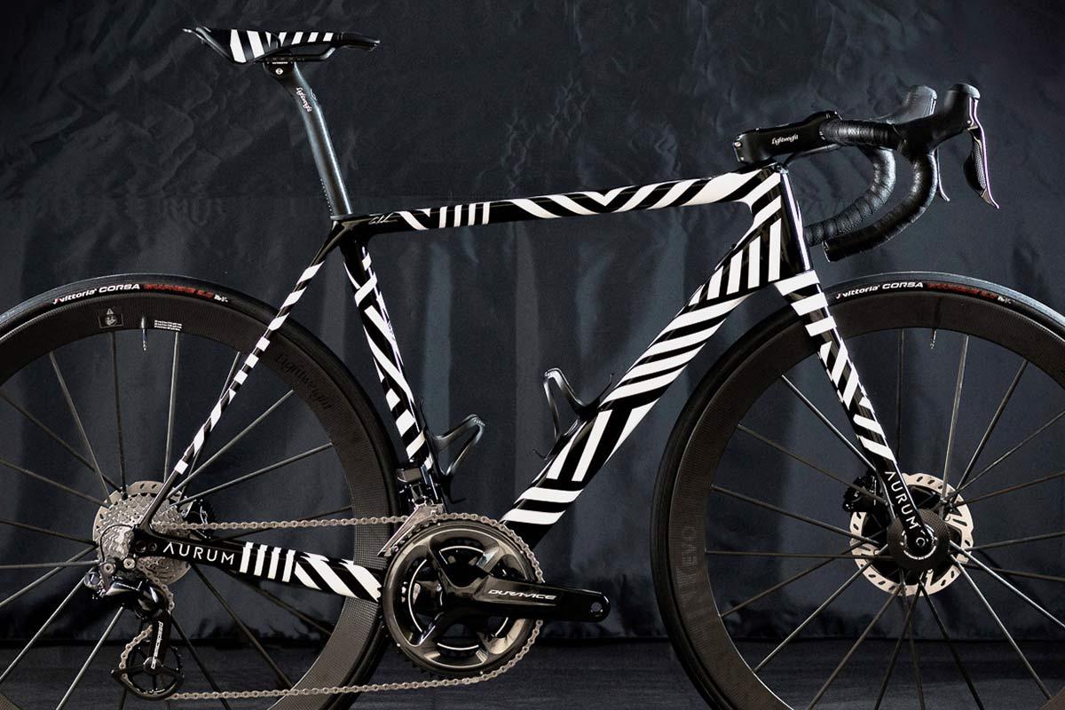 Aurum Zevra ultra-limited edition premium lightweight carbon Magma disc brake road bike by Basso & Contador, 1 of 21,crop
