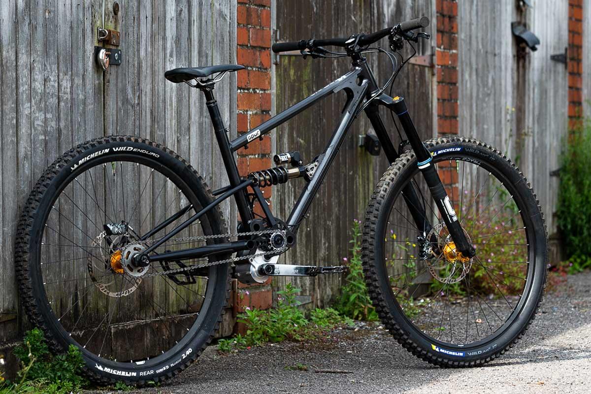 starling spur production model 170mm travel 29er enduro bike steel frame