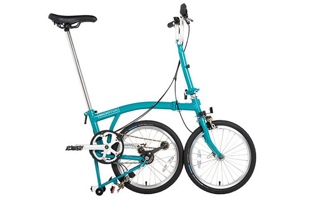 Brompton B75 partially folded