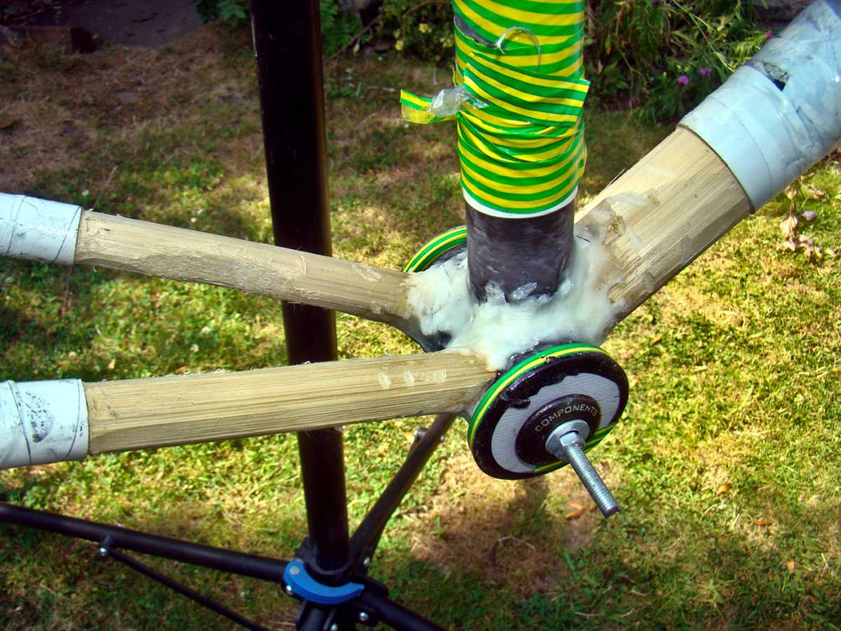 earthbound bikes bamboo gravel bike frame clearance limited due to straight tubes