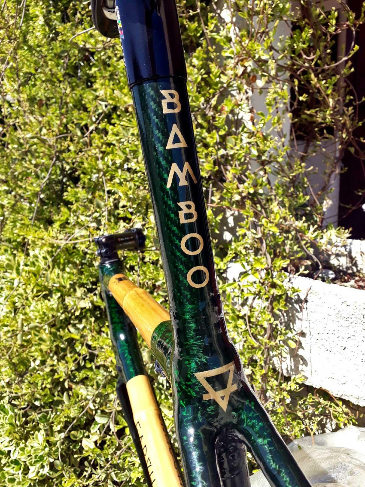 bamboo road bike earthbound bikes green seat tube clearcoat