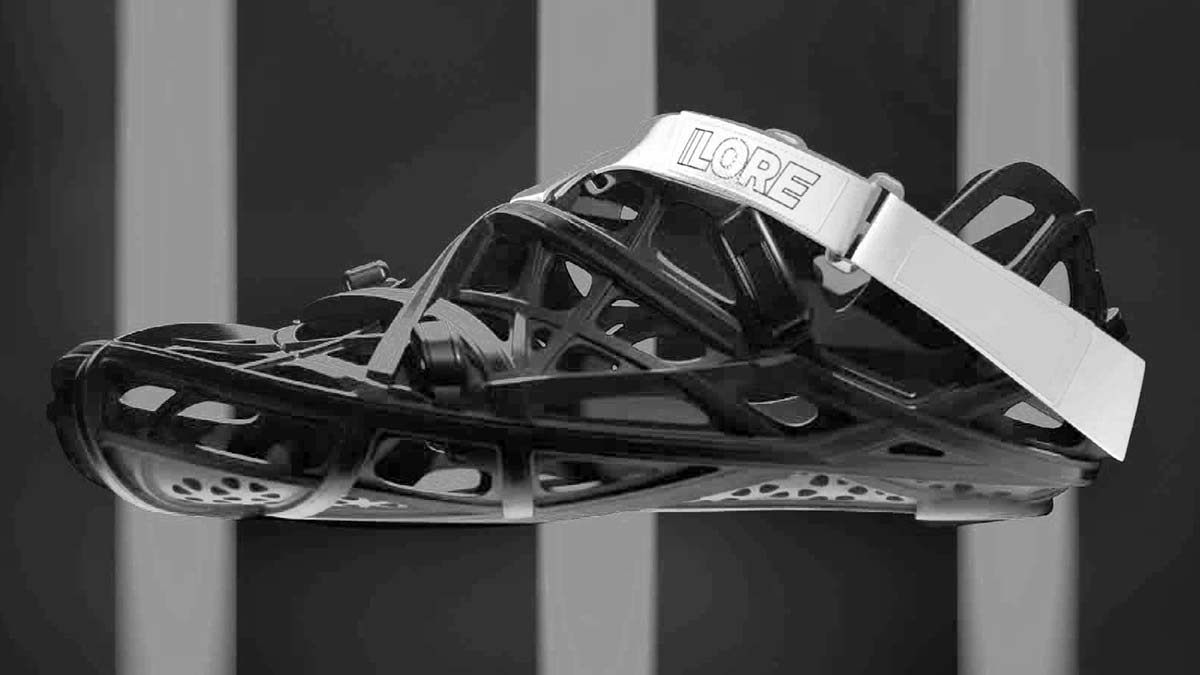 LORE LoreOne custom 3D-printed carbon road cycling shoe,crocs for bikes