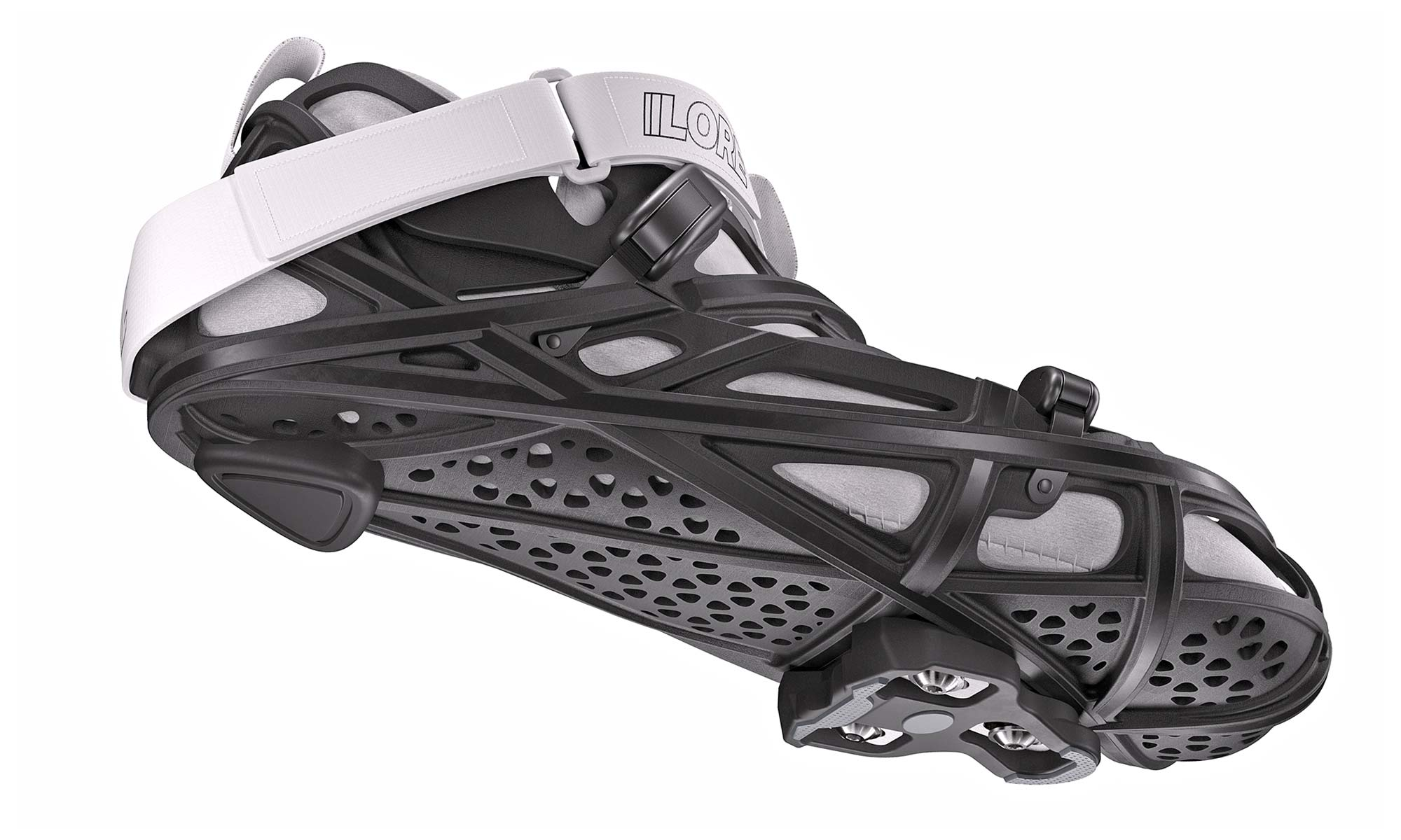 LORE LoreOne custom 3D-printed carbon road cycling shoe,retention