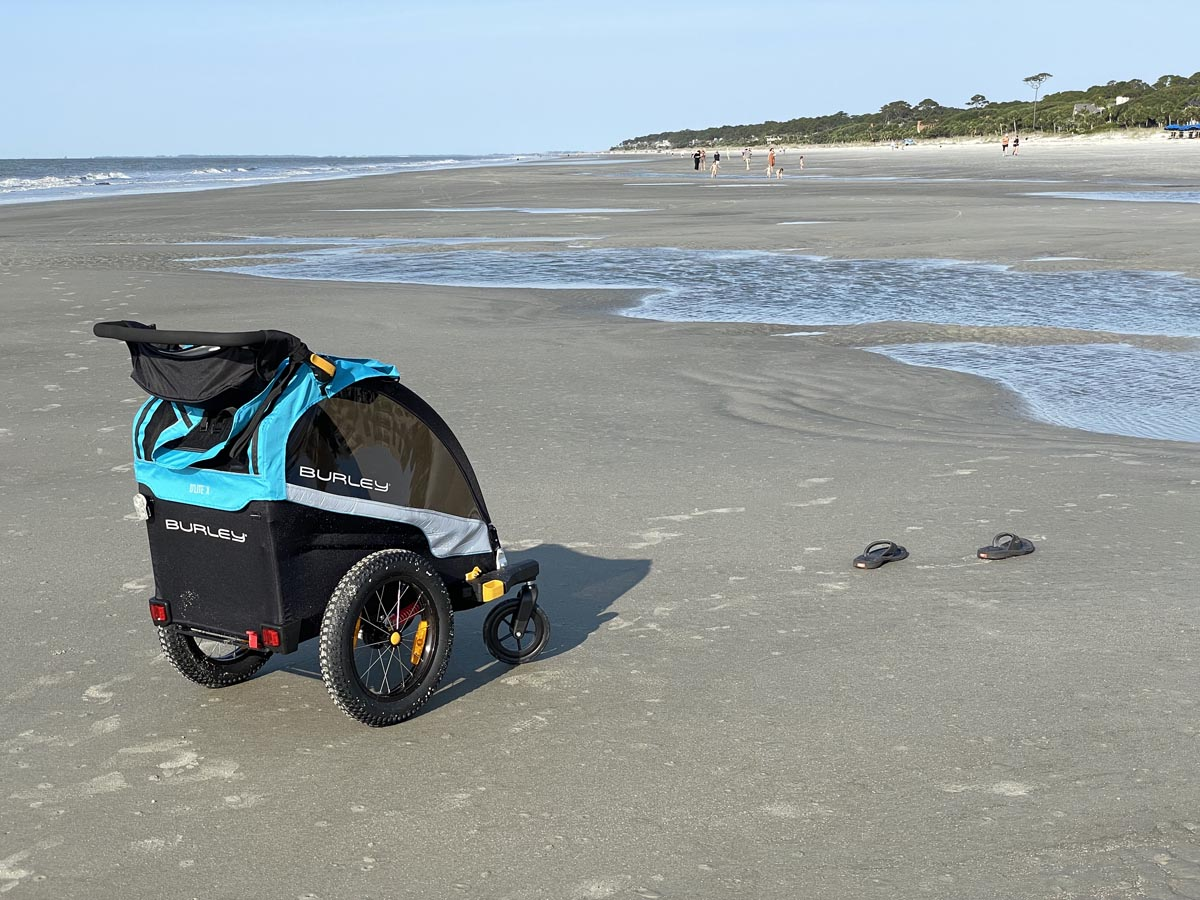 Burley D'Lite X at the beach