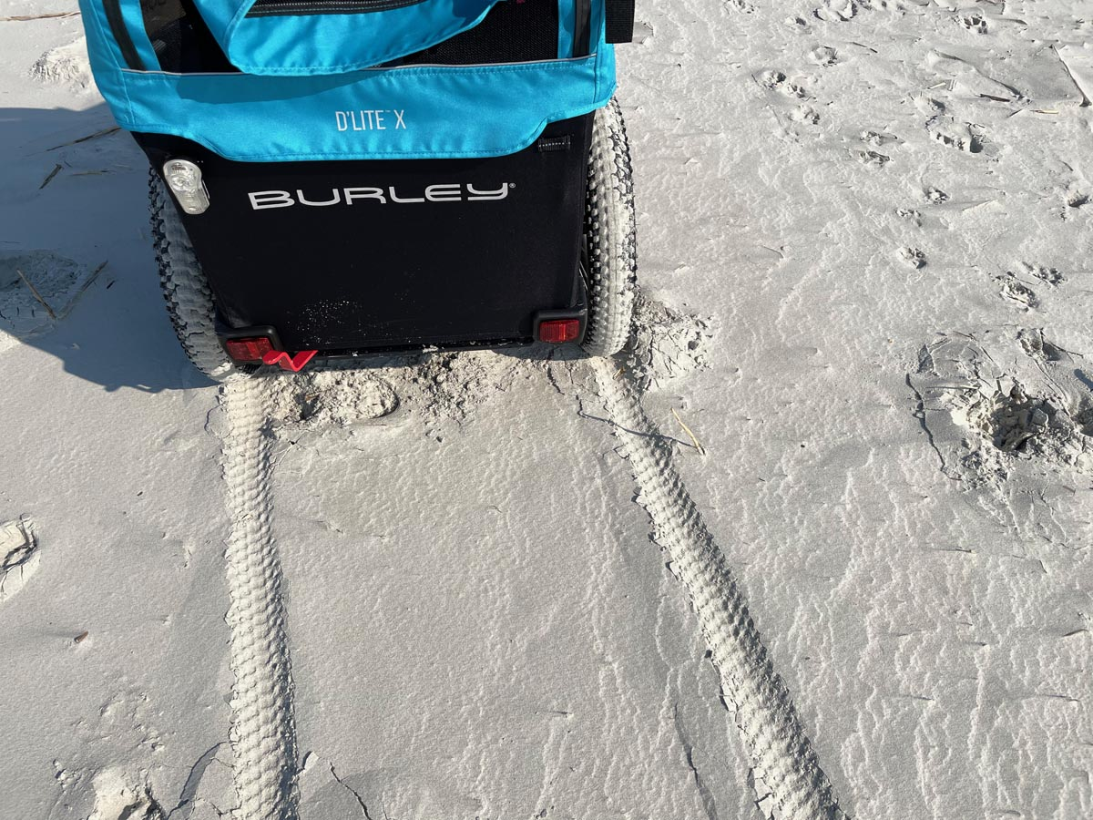 Burley 16+ wheel kit in sand