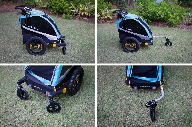 1-Wheel vs 2-wheel stroller kit for Burley child trailer