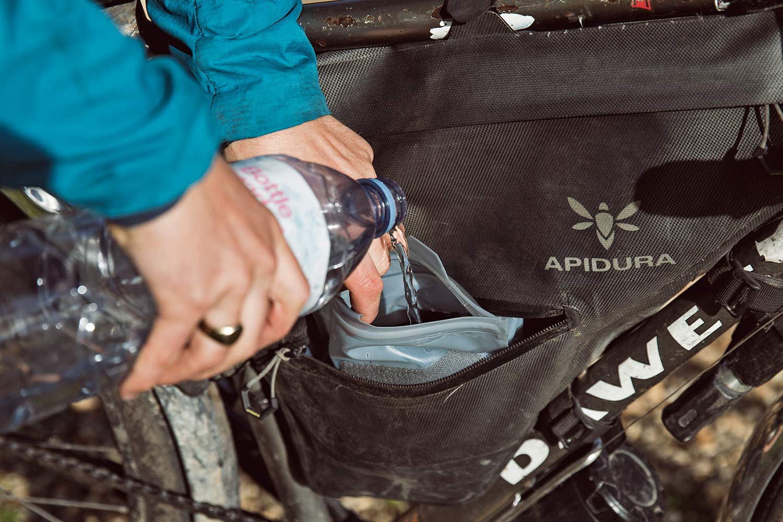 Apidura 1.5L frame Pack Hydration Bladder, Innovation Lab bikepacking frame pack water bag, refill
