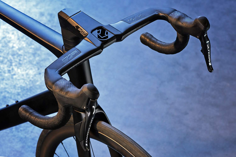 PRO Vibe Evo handlebar, fully-integrated 1-piece aero carbon road bike bar+stem cockpit, wrapped