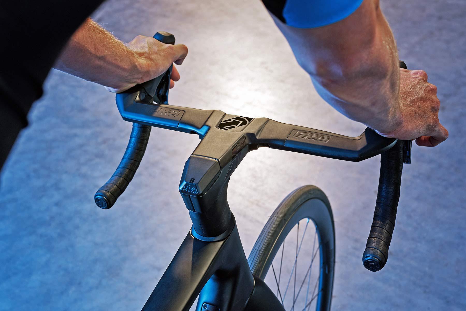 PRO Vibe Evo handlebar, fully-integrated 1-piece aero carbon road bike bar+stem cockpit,riding
