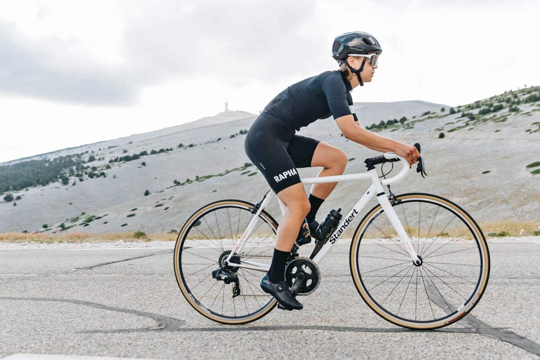 Standert Triebwerk CR classic lightweight steel rim brake road bike, photo by Savannah van der Niet,Mont Ventoux