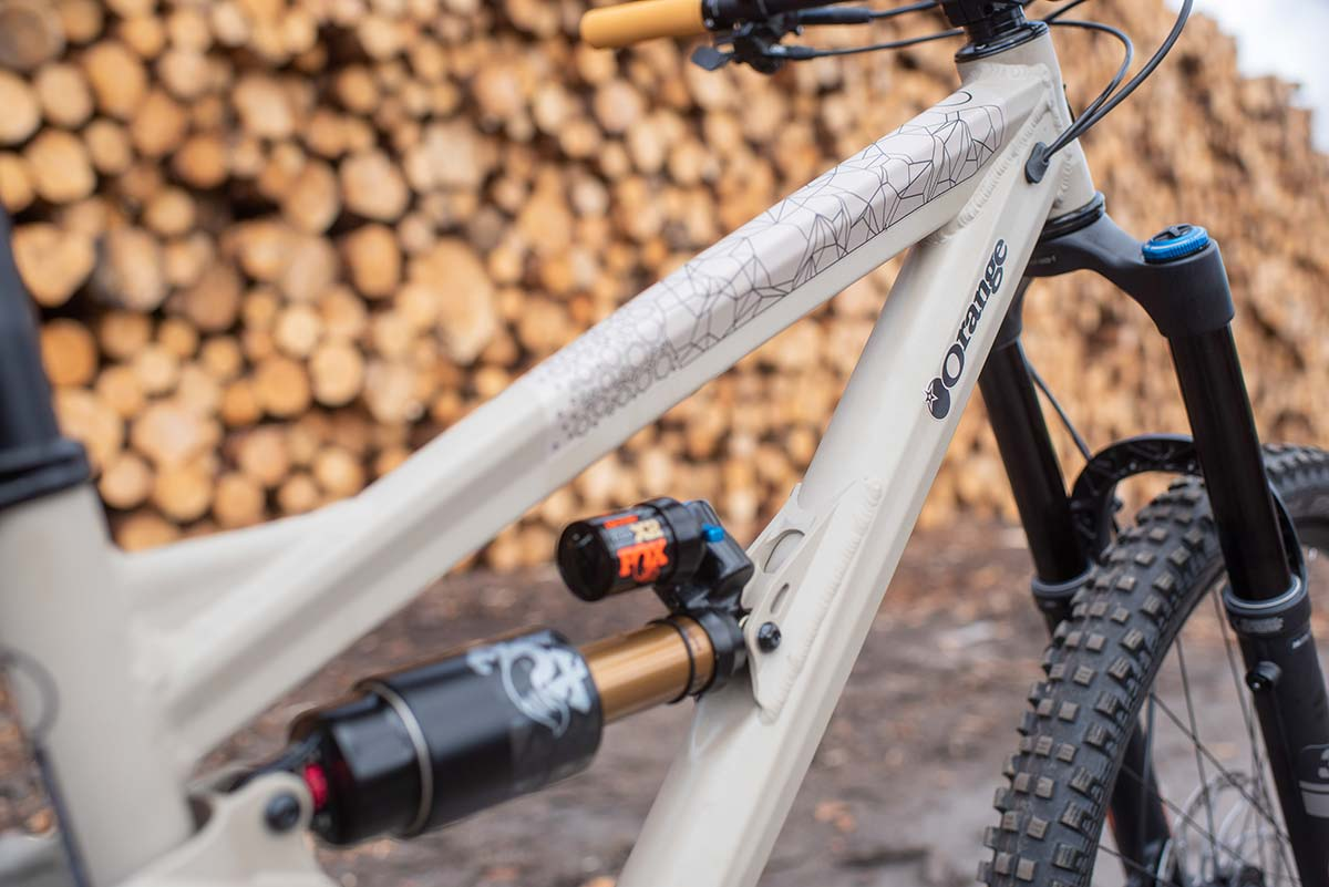 orange alpine evo geometry long slack 155mm travel trail mtb single-pivot