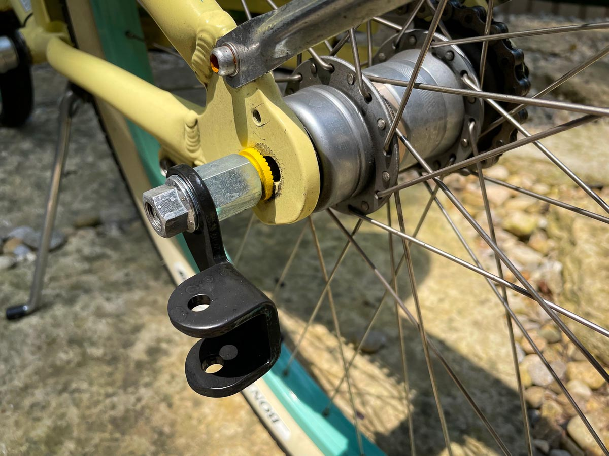 hitch adapter for geared hub with child trailer