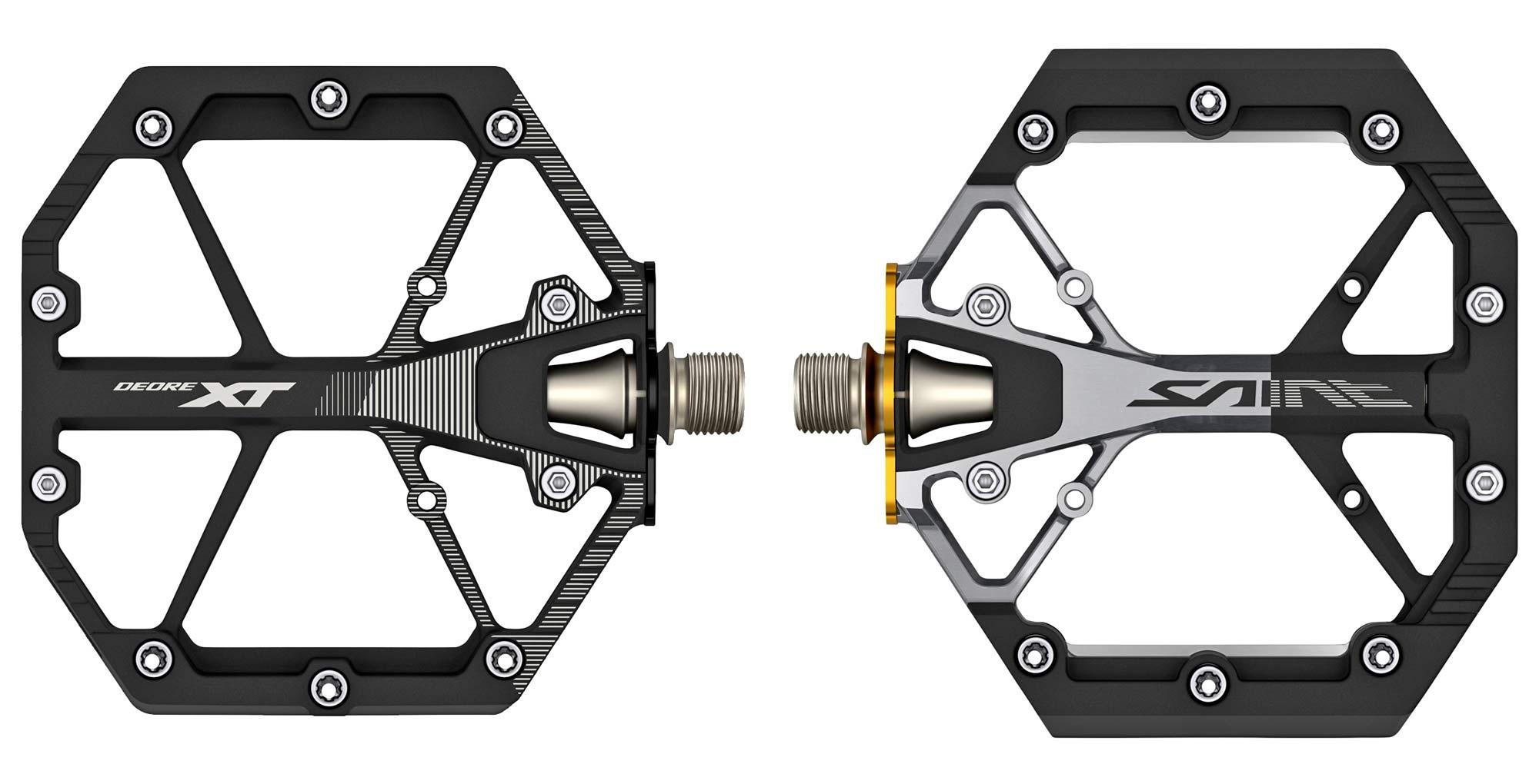 Shimano lightweight XT & Saint gravity enduro freeride DH mountain bike platform pedals, pair