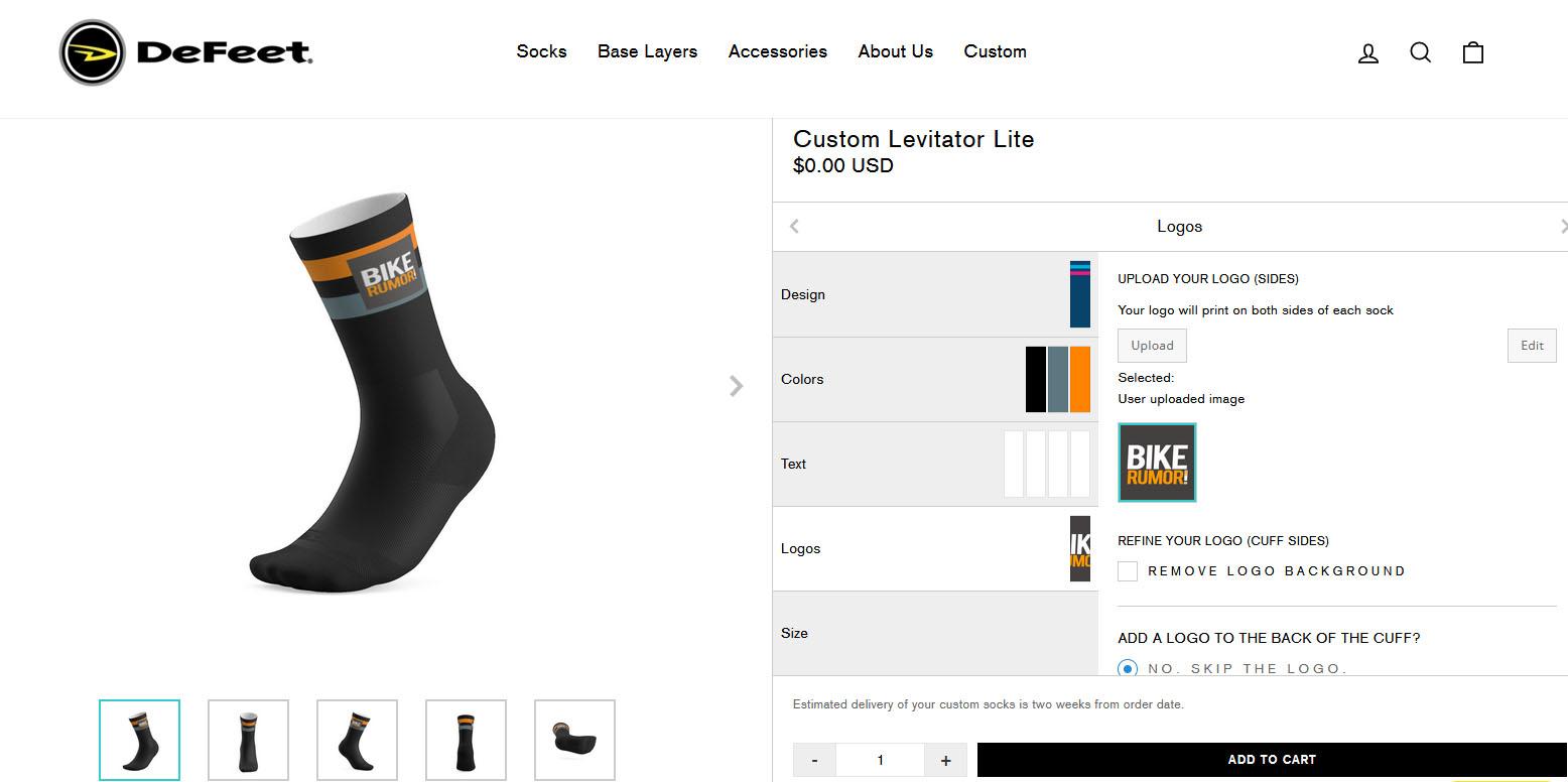 Defeet print my sock custom tool