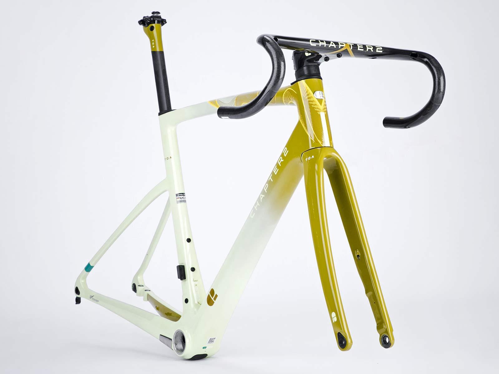Chapter2 TOA all-road bike, fully integrated versatile aero carbon road bike, angled frameset