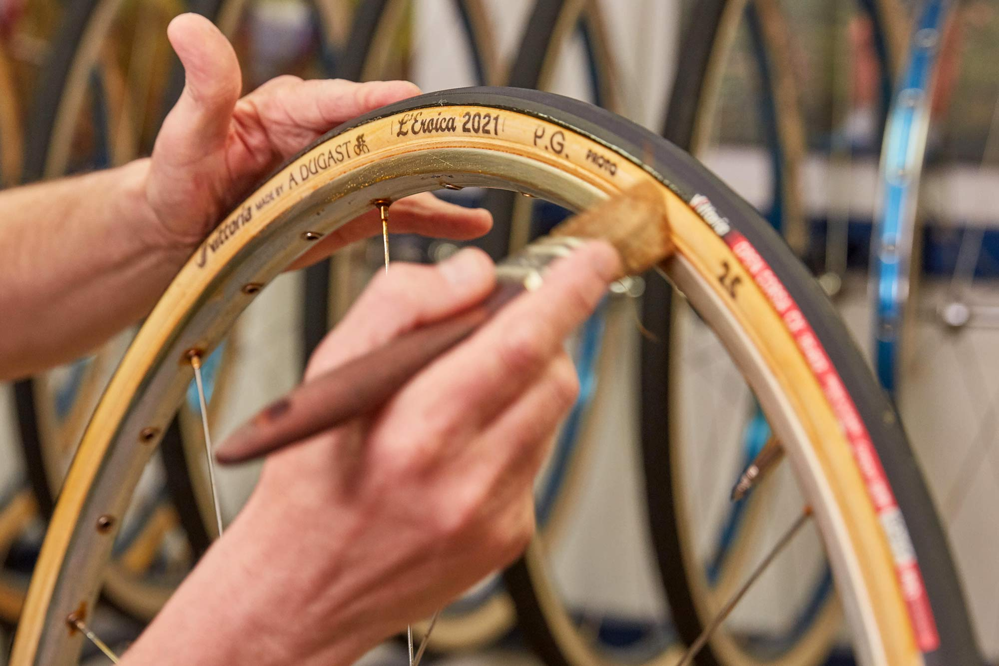 Vittoria made by A Dugast L Eroica limited edition 25mm retro vintage tubular road bike tires,Dugast workshop