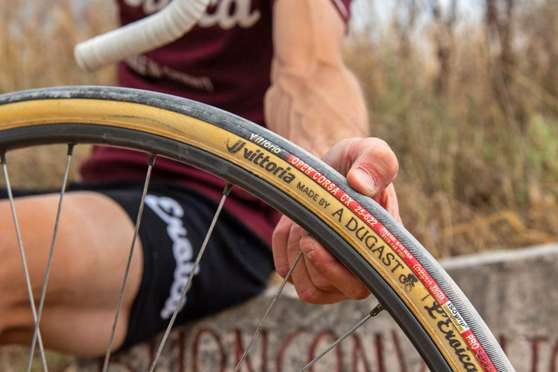 Vittoria made by A Dugast L Eroica limited edition 25mm retro vintage tubular road bike tires