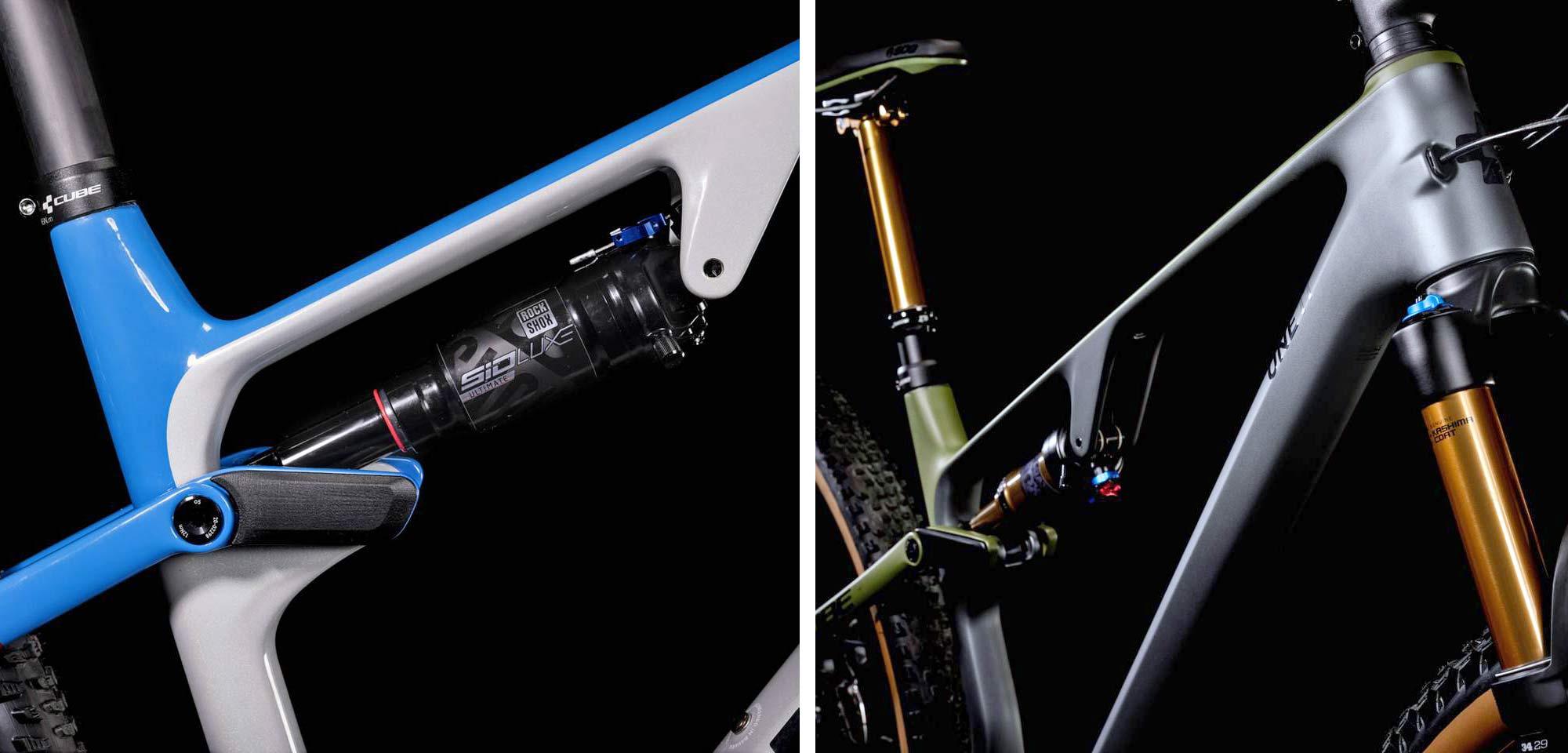 All-new 2022 Cube AMS lightweight C:68X carbon XC Marathon Trail mountain bikes,shock details