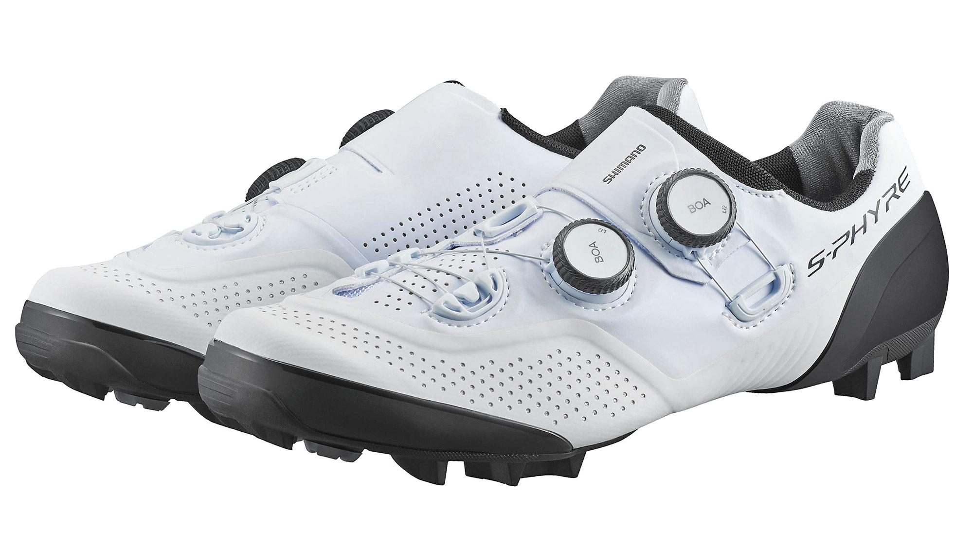 Shimano S-Phyre XC902 MTB shoes, next-gen XC9 cross-country mountain bike shoe,white pair