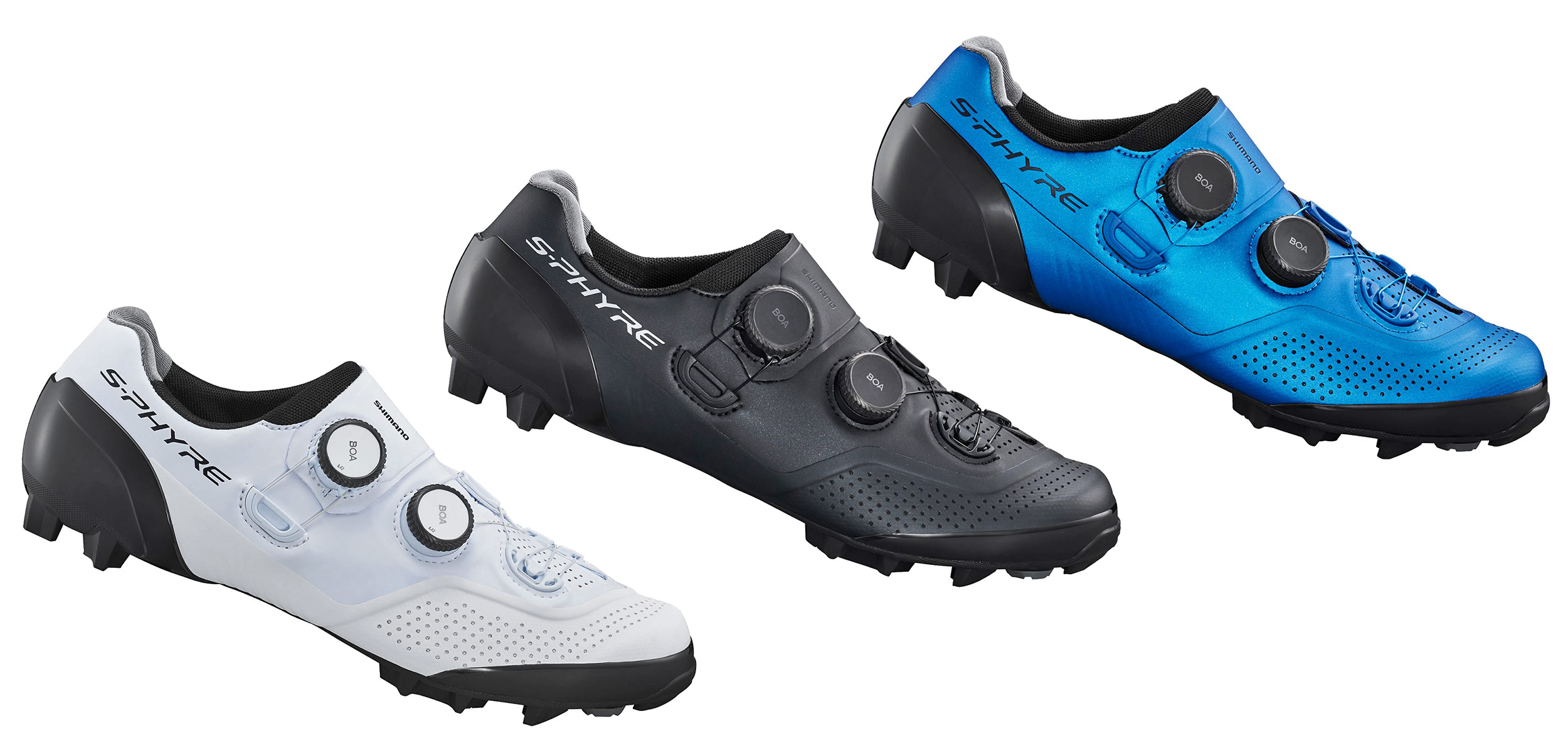 Shimano S-Phyre XC902 MTB shoes, next-gen XC9 cross-country mountain bike shoe,colors