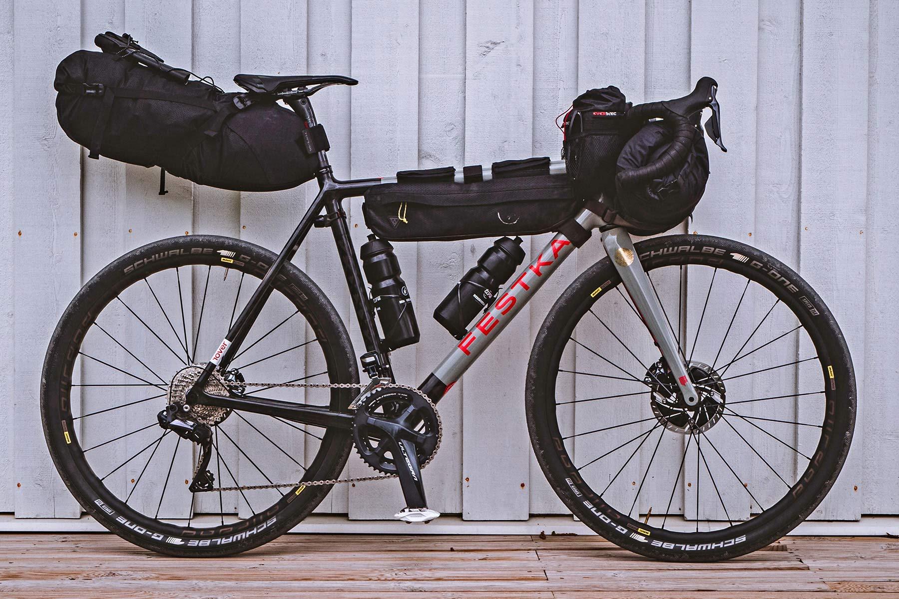 All-new Festka Scout custom carbon gravel bike, adventure bikepacking gravel bikes,Rover bikepacking mode