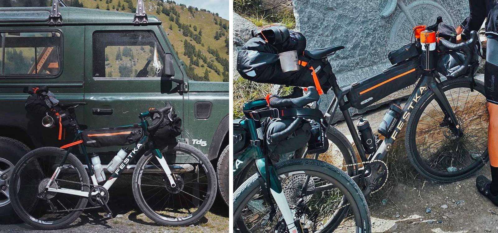 All-new Festka Scout custom carbon gravel bike, adventure bikepacking gravel bikes, Isadore social media sneak peek