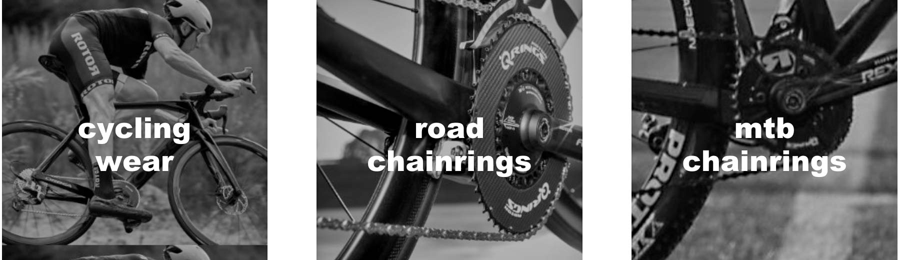 Rotor Outlet, discounted marked-down powermeters cranksets chainrings Qrings, chainrings