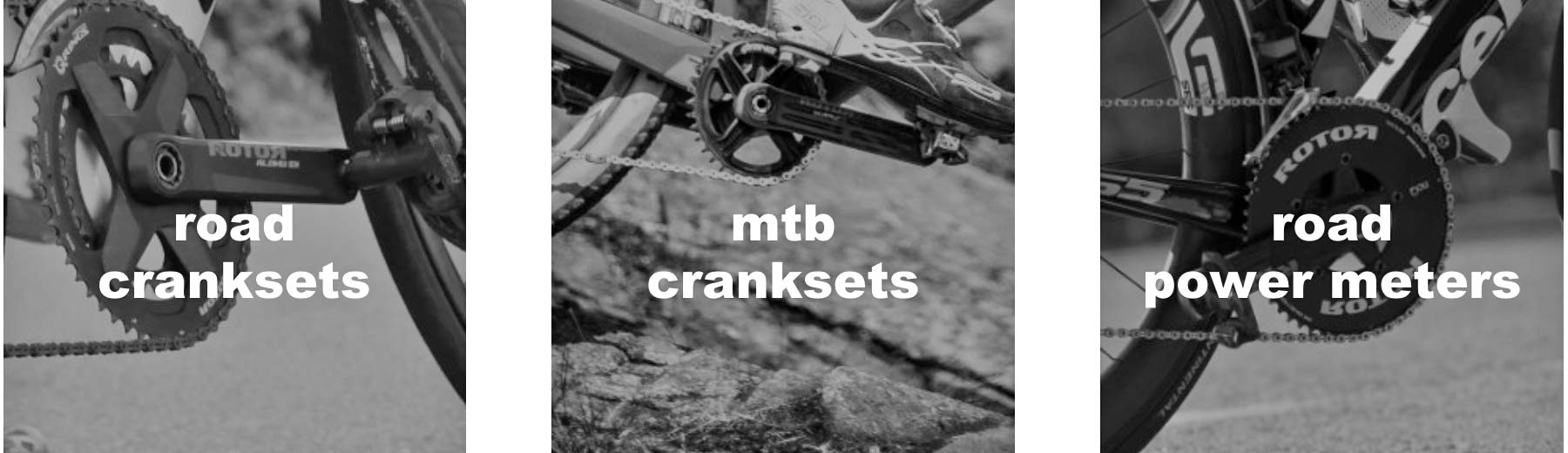 Rotor Outlet, discounted marked-down powermeters cranksets chainrings Qrings, road & MTB