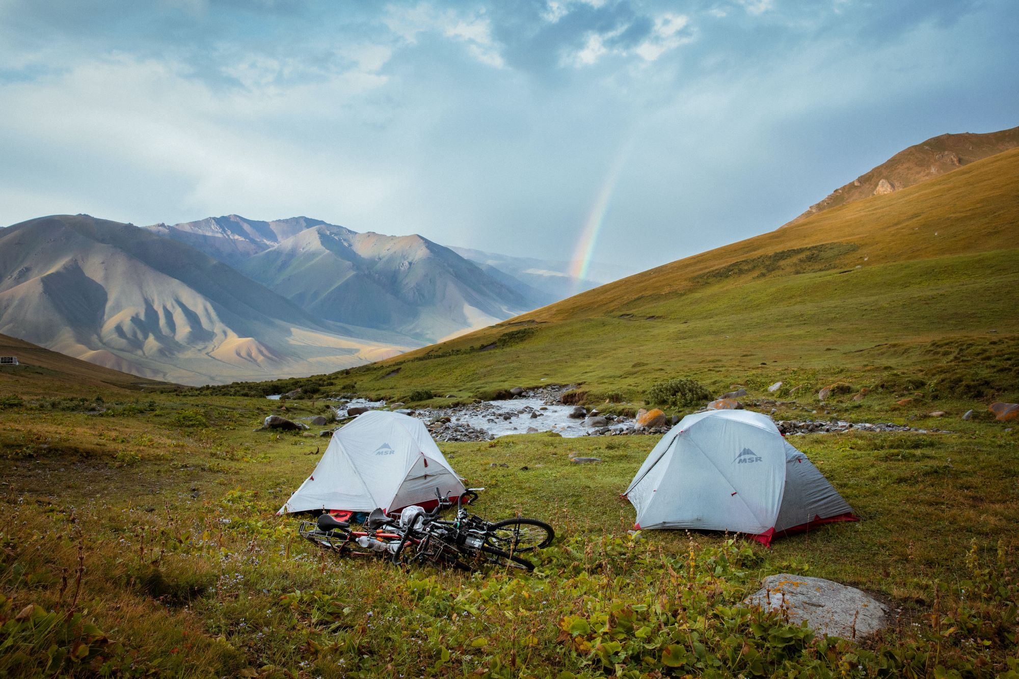 bike tour mountain camping