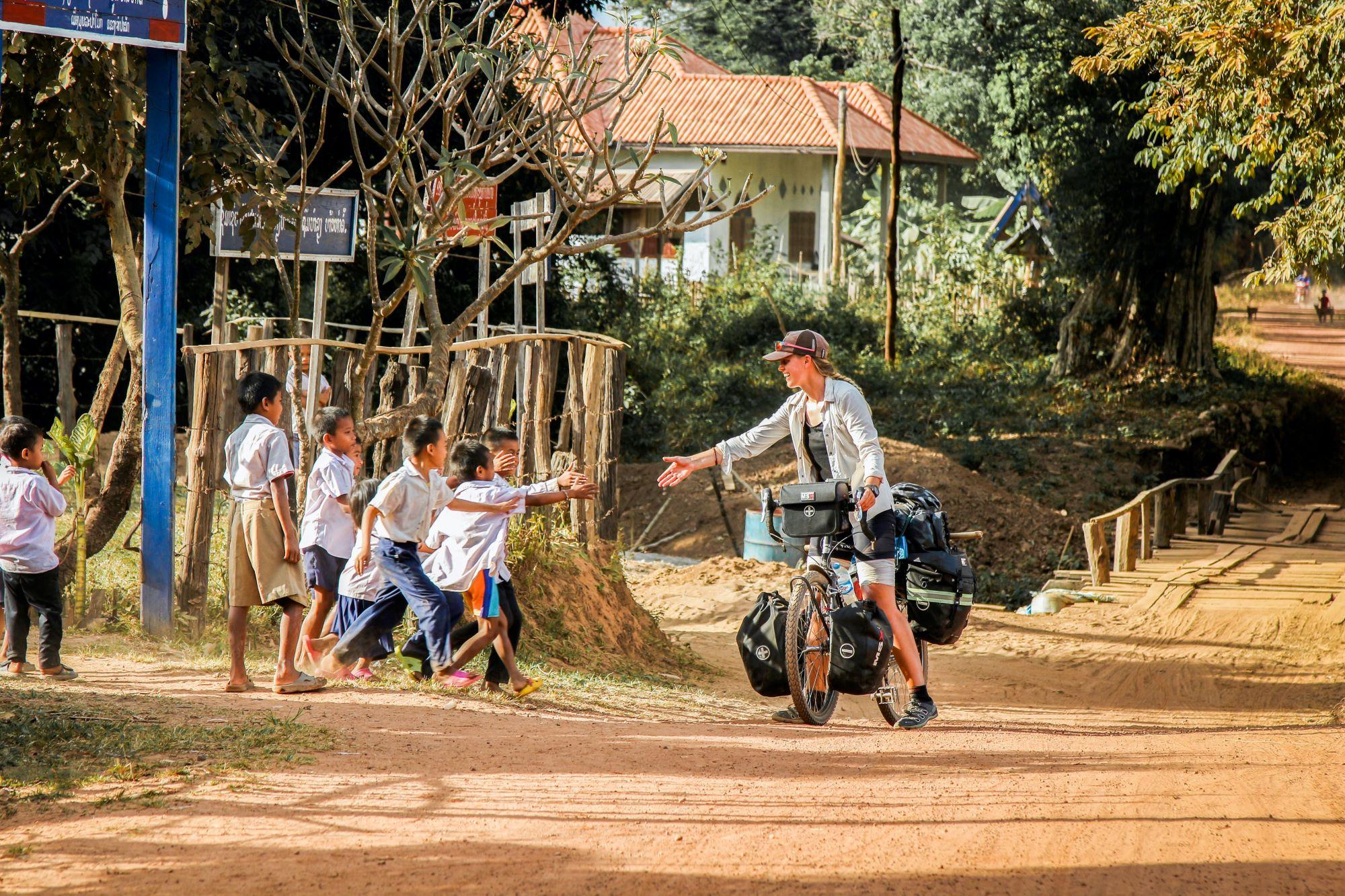 bike touring indonesia children