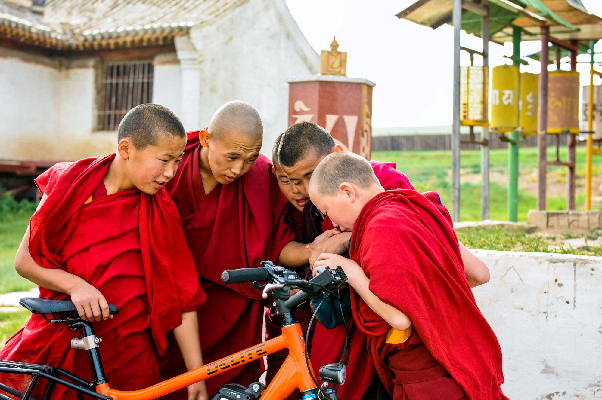 50 ways to cycle the world: monks bicycle