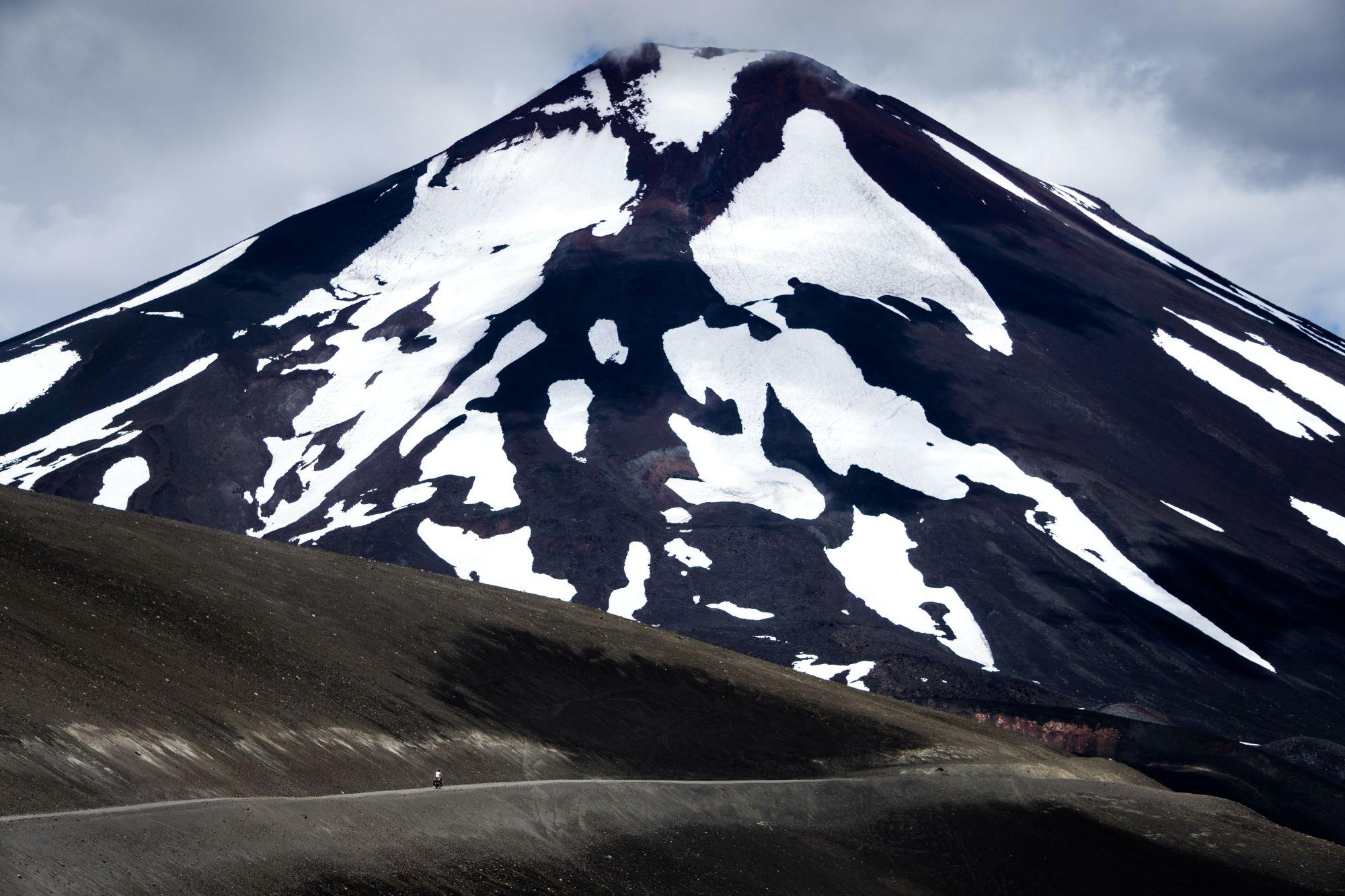 bike touring mountain landscape