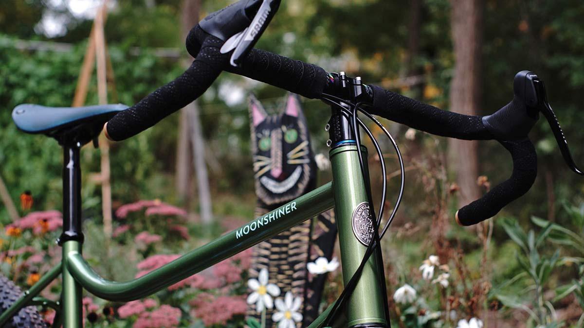 Tanglefoot Moonshiner MTB, 27.5+ rigid steel dropbar adventure touring bikepacking mountain bike,front