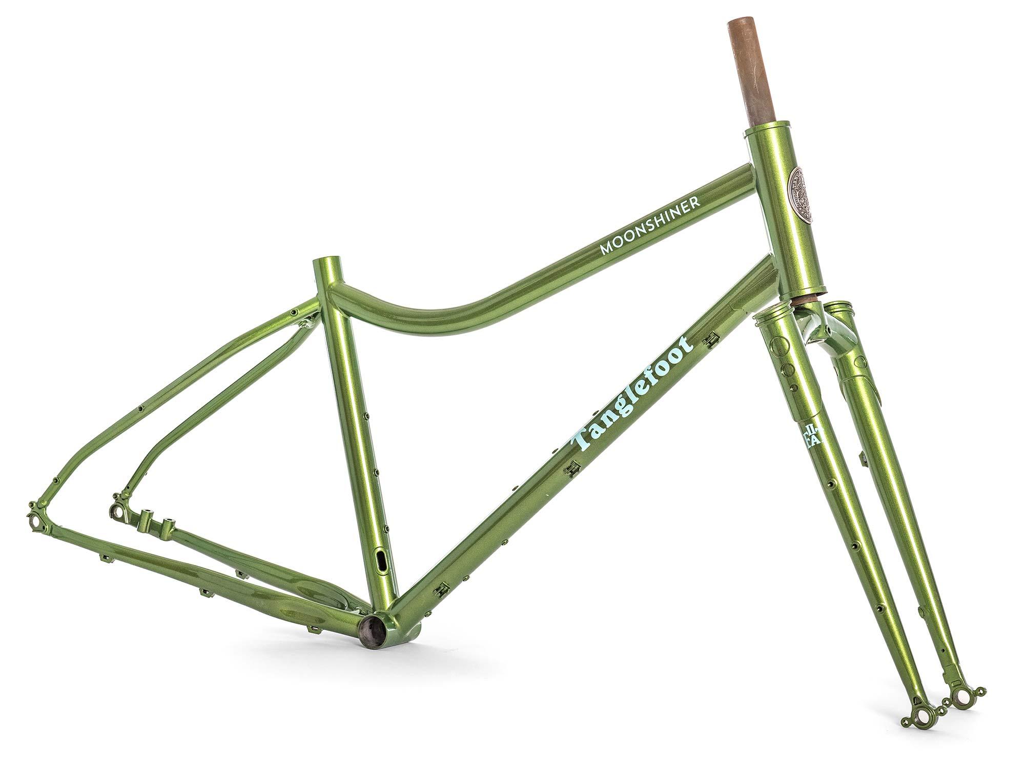 Tanglefoot Moonshiner MTB, 27.5+ rigid steel dropbar adventure touring bikepacking mountain bike,frame