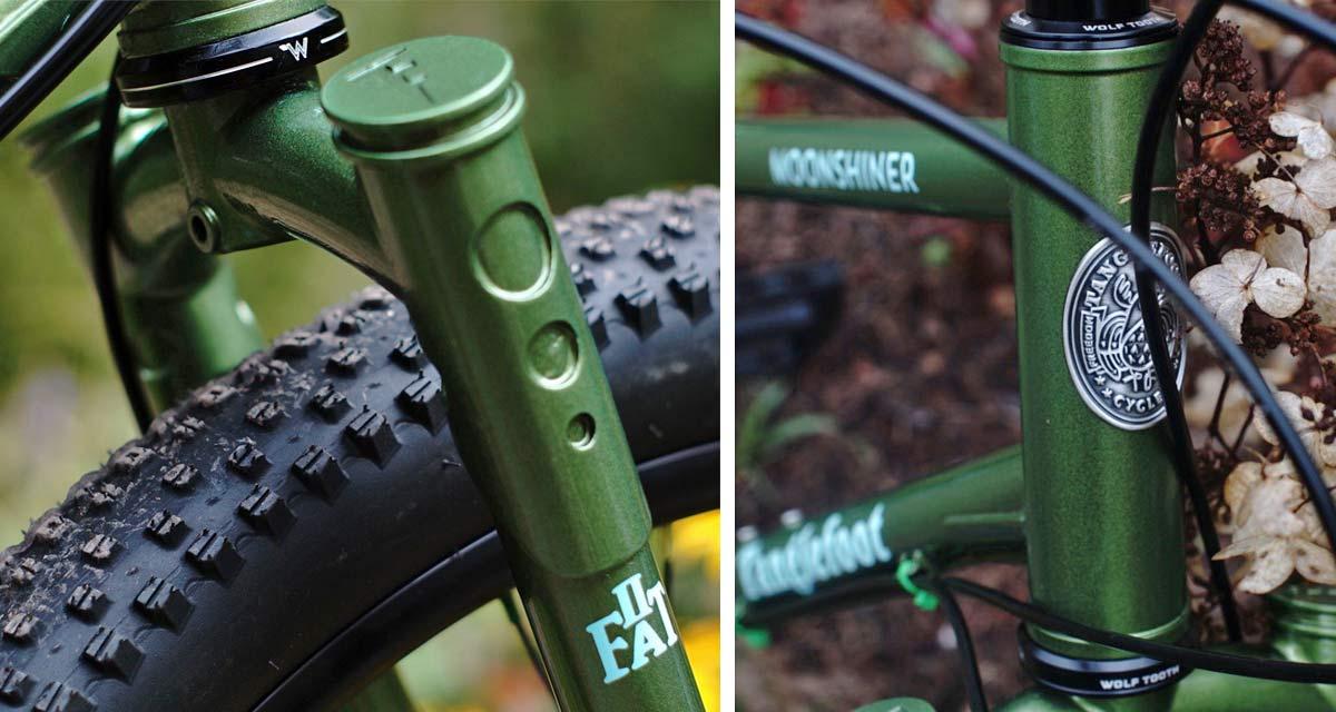 Tanglefoot Moonshiner MTB, 27.5+ rigid steel dropbar adventure touring bikepacking mountain bike,head badge