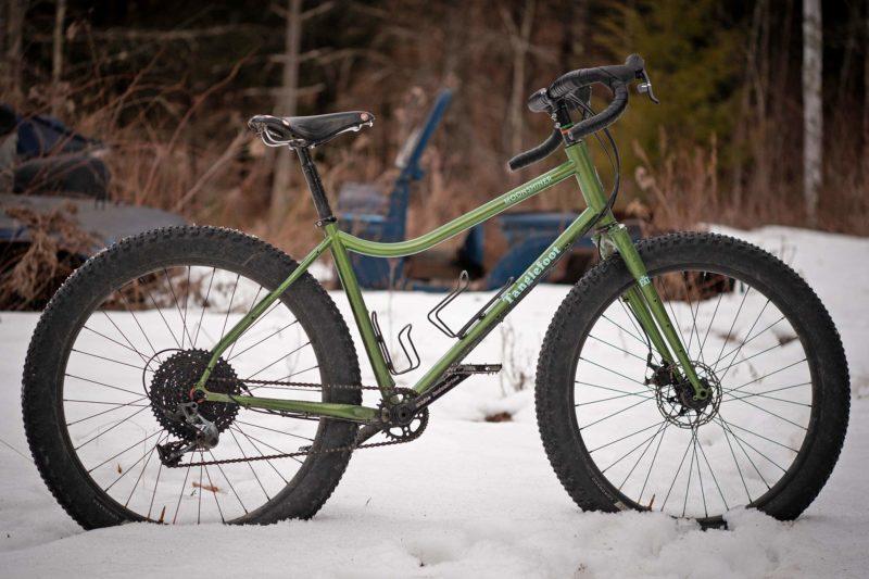 Tanglefoot Moonshiner MTB, 27.5+ rigid steel dropbar adventure touring bikepacking mountain bike,winter