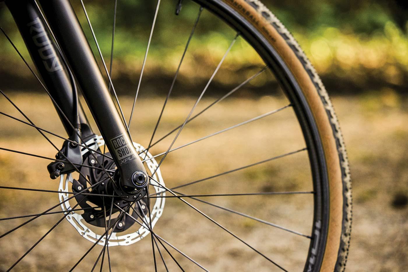 side view of 2022 rockshox rudy suspension fork for gravel bikes